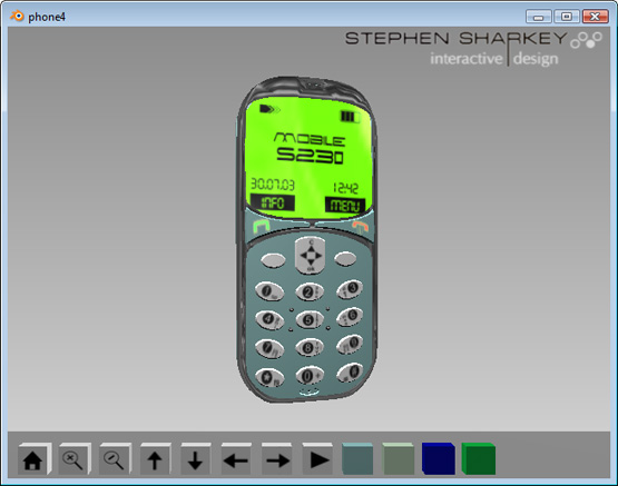 Interactive 3D Mobile Phone Presentation (Download)